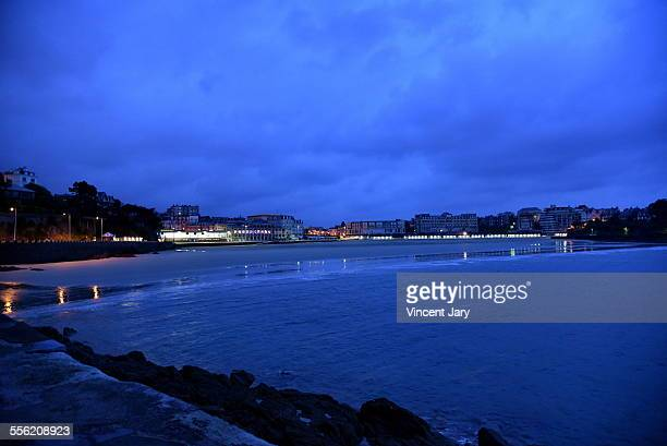 dinard by night - dinard stock pictures, royalty-free photos & images