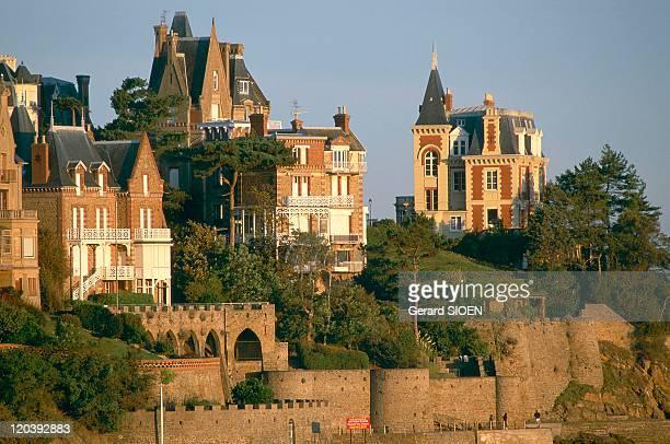 Dinard Cote d'Emeraude Brittany France The Pointe de la Malouine and its villas