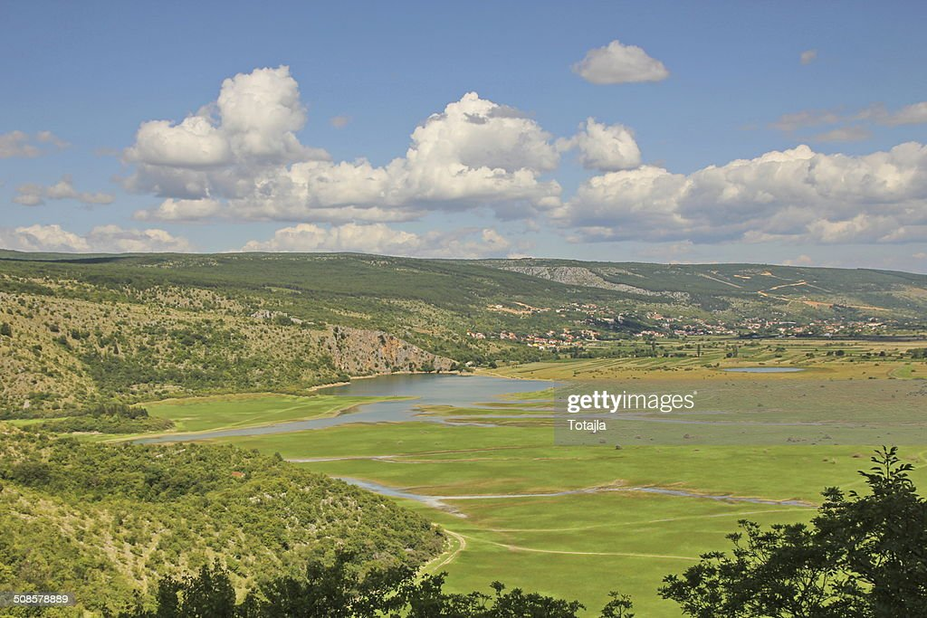 Dinaric karst and mountains in Croatia : Stock Photo