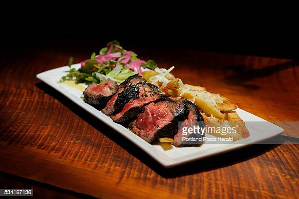 Dine Out on Old Vines Wine Bar photographed on Tuesday May 17 2016 Pictured is Steak Frites which includes herb marinated flatiron steak hand cut...