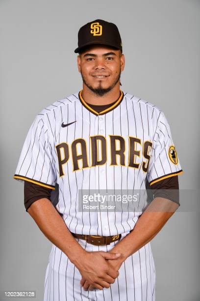 Dinelson Lamet of the San Diego Padres poses during Photo Day on Thursday, February 20, 2020 at the Peoria Sports Complex in Peoria, Arizona.