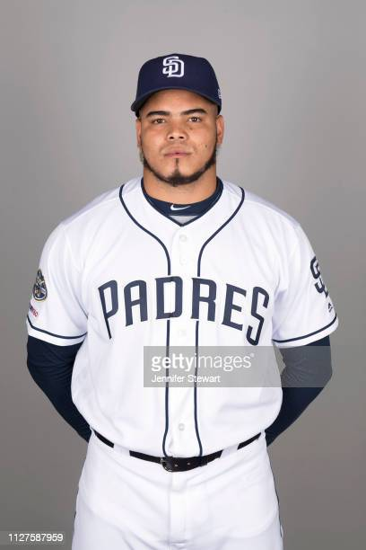 Dinelson Lamet of the San Diego Padres poses during Photo Day on Thursday, February 21, 2019 at Peoria Stadium in Peoria, Arizona.