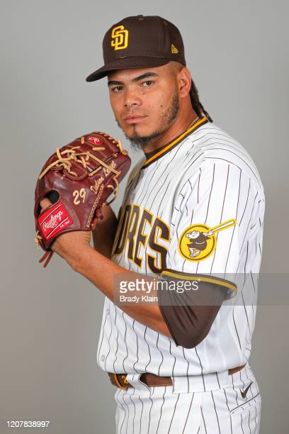 Dinelson Lamet of the San Diego Padres poses for a photo during Photo Day at Peoria Sports Complex on February 20, 2020 in Peoria, Arizona.