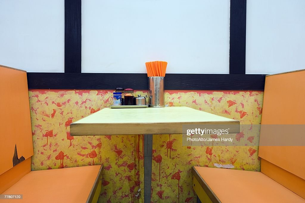 Diner booth : Stock Photo