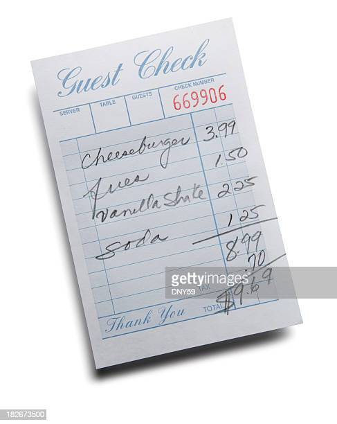 Diner Guest Check