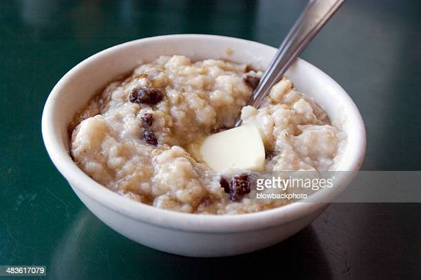 diner: hot oatmeal - oatmeal stock photos and pictures