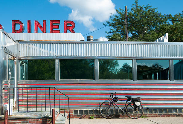 Diner with Bicycle