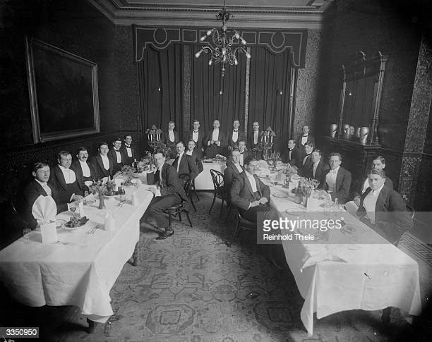 Diners at a Superior Apprentices dinner at the Holborn restaurant in London
