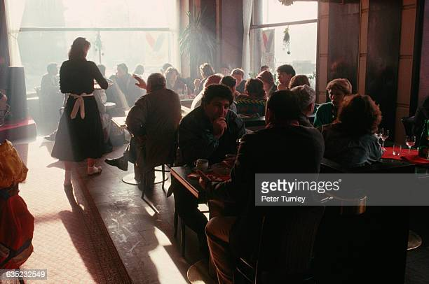 Diners at Cafe Slavia