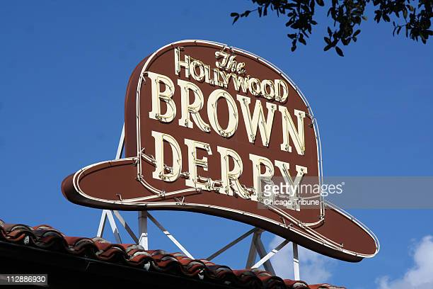 Diners at Disney's Hollywood version of the Brown Derbyonce one of movieland's glamour restaurantsfind nostalgia and the familiar Cobb Salad in...