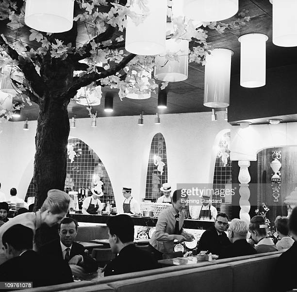 Diners at the Golden Egg restaurant on Charing Cross Road London 22nd October 1963