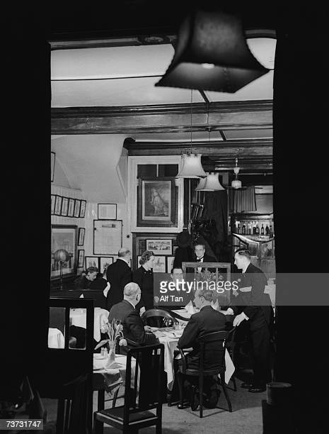 Diners at the Rules restaurant in London 5th February 1947