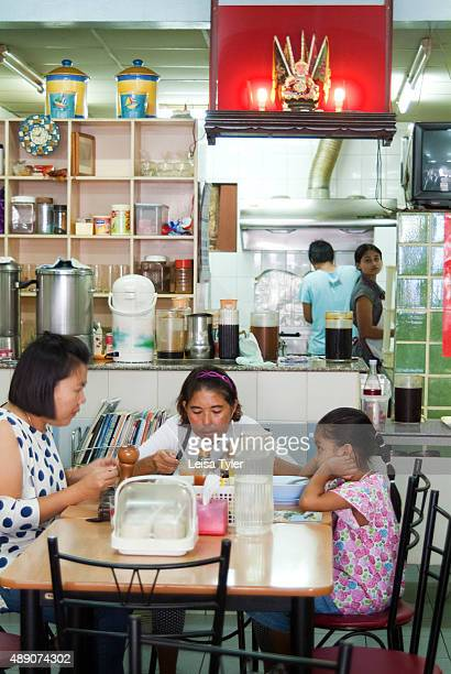 Diners at Wilai in Phuket Old Town a Baba cuisine restaurant a style of food developed in Phuket by Hokkien Chinese who migrated from the Straits...