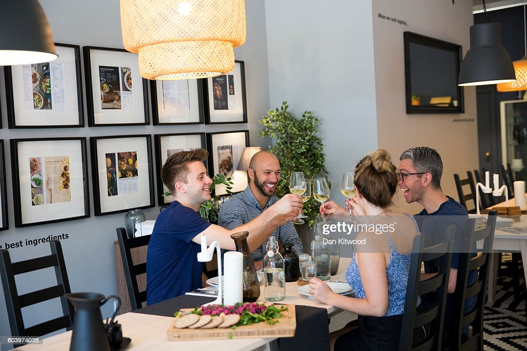 Britains first ikea pop up restaurant diy food at the dining diners enjoy lunch after cooking it inside ikeas the dining club pop up restaurant solutioingenieria Images