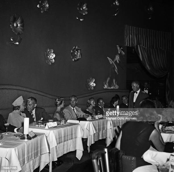 Diners fill the tables at the swanky Mocambo nightclub on the Sunset Strip on July 8 in Hollywood, California.