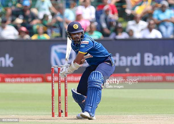 Dinesh Chandimal of Sri Lanka during the 1st One Day International match between South Africa and Sri Lanka at St Georges Park on January 28 2017 in...