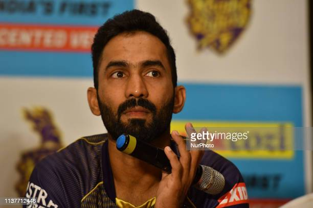Dinesh Karthik captain of Kolkata Knight Riders during LUX lunches India's first ever Scented Vest Range from Lux Cozi on April 17,2019 in Kolkata...
