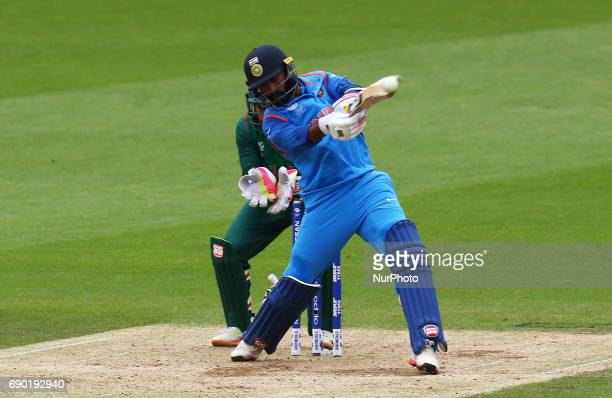 Dinesh Karthik of India during the ICC Champions Trophy Warmup match between India and Bangladesh at The Oval in London on May 30 2017