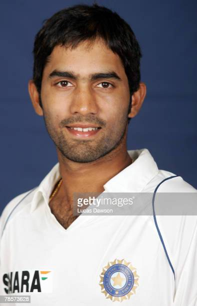 Dinesh Karthik of India poses during the Indian cricket team portrait session at the Melbourne Cricket Ground on December 19 2007 in Melbourne...