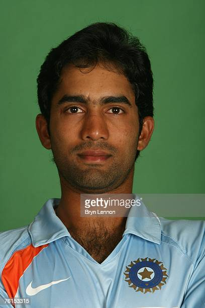 Dinesh Karthik poses during a photo call at the Marriott Hotel on August 17 2007 in Northampton England