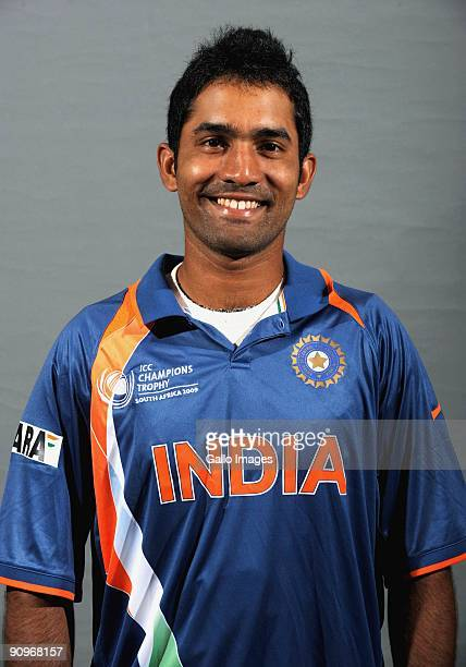 Dinesh Karthik poses during the ICC Champions photocall session of the Indian cricket team at Sandton Sun on September 19 2009 in Sandton South Africa