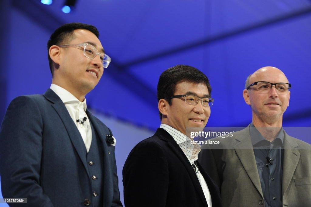 Richard Kim Ding Lei And Nick Sampson Of Faraday Future News Photo