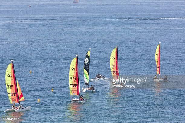 Dinghies off Saint Malo
