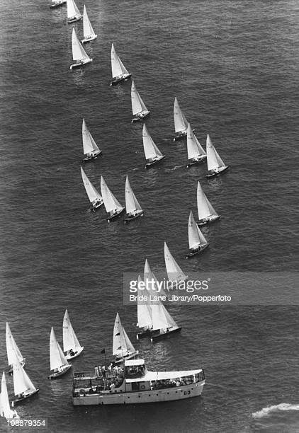 Dinghys at the start of the Flying Dutchman class at the 1968 Summer Olympics Acapulco Bay Mexico 17th October 1968