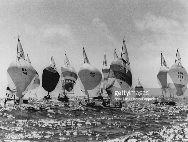 Dinghys competing in the Flying Dutchman class at the 1968 Summer Olympics Acapulco Bay Mexico 19th October 1968
