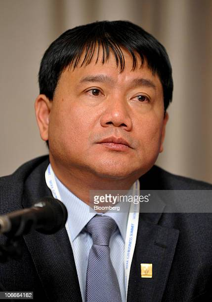 Dinh La Thang chairman of Vietnam Oil Gas Group attends a news conference at Seoul G20 Business Summit in Seoul South Korea on Wednesday Nov 10 2010...