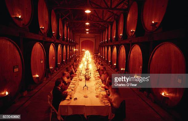 Dining Among the Wine Casks