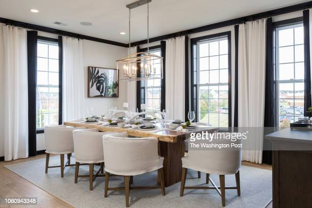 Dining area in the Delanie model home at Loudon Valley The Carlisle on October 24 2018 in Ashburn Virginia