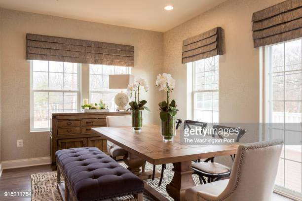 Dining Area in the Ellicott model home at Spring Creek on January 24 2018 in Laurel Maryland