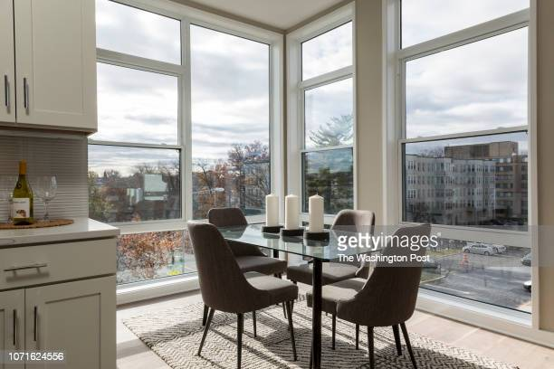 Dining area in the model at Randolf 14 on November 27 2018 in Washington DC
