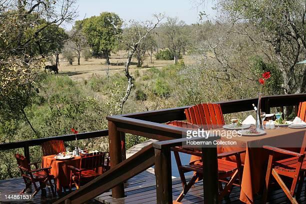 Dining in Nature Elephant Plains Sabi Sabi Greater Kruger National Park Mpumalanga South Africa Africa