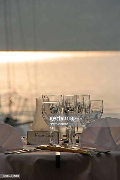 dining out - chilean lake district stock photos and pictures
