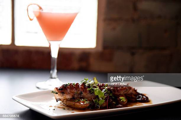 Dining review of Chow Urban Grill May 26 2016 including the Spanish octopus with chorizo vinaigrette with a Clark Daphne drink Also in the review a...