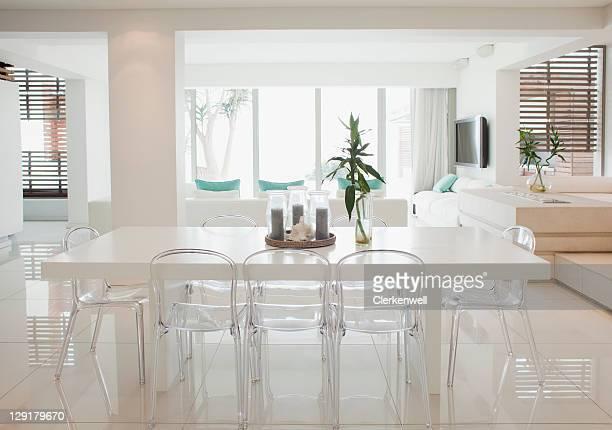 Speiseraum und Wohnzimmer der modernen home