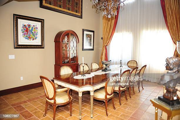Dining room at Jon Secada's home on January 13 2011 in Coral Gables Florida