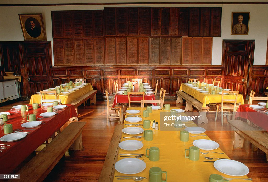 Dining Room At Ludgrove Boarding School For Boys In