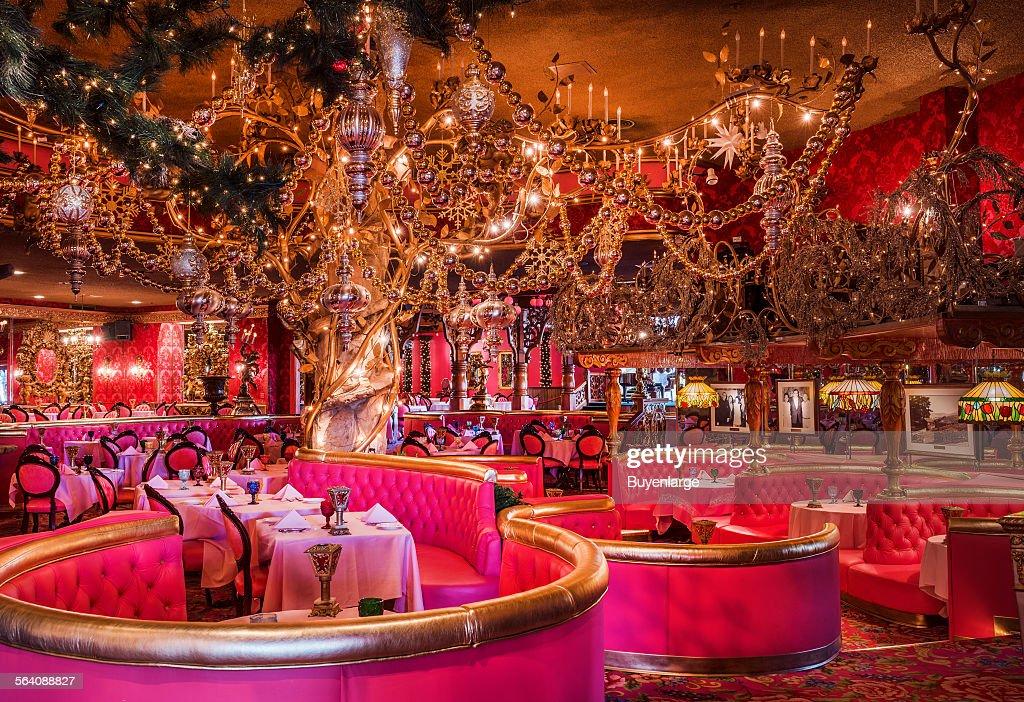 Dining room at the landmark Madonna Inn in San Luis Obispo ...