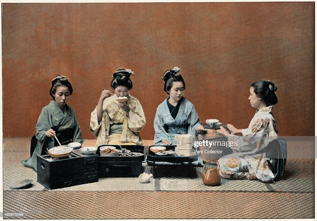 'A Dining Room', c1890. Illustration from the the booklet Au Japon, Types, Costumes & Moeurs, (Paris, c1890).