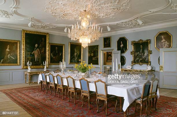 Dining room Gavno Castle island of Gavno Zealand Denmark