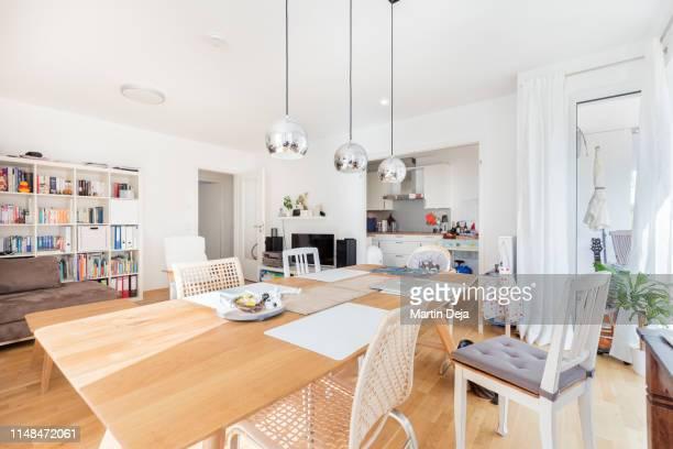 dining room hdr - gourmet küche stock-fotos und bilder