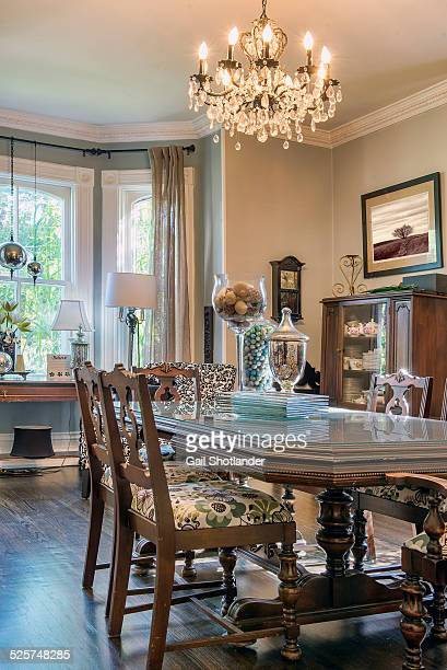 dining room - heritage house - grace gail stock pictures, royalty-free photos & images
