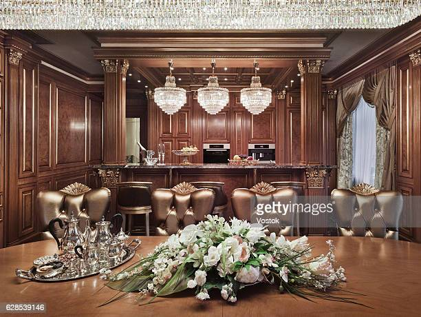Dining room in a luxury private house