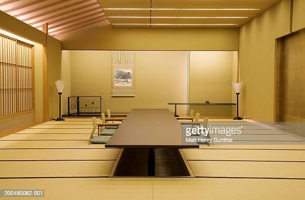 Dining room in restaurant