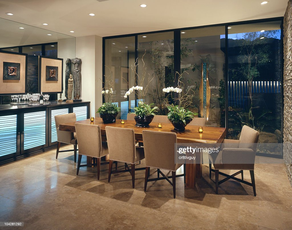 Dining room Interior Home Design : Stock Photo