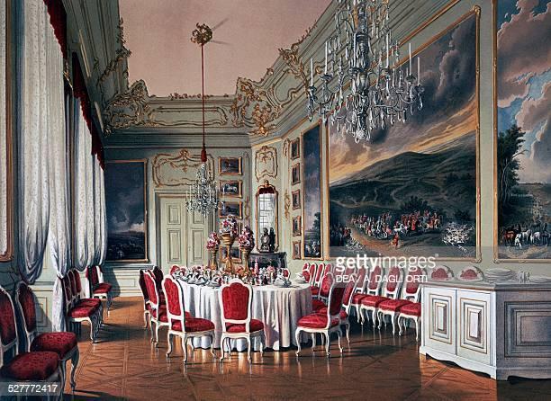 Dining Room of Schoenbrunn Vienna print Austria 19th century Vienna Historisches Museum Der Stadt Wien
