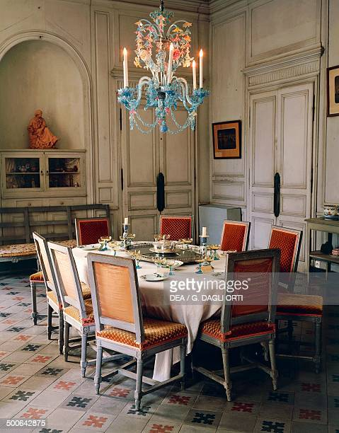 Dining room of the Chateau de Nohant belonged to George Sand and attended by Ivan Sergeyevich Turgenev Alexandre Dumas Frederic Chopin and Franz...